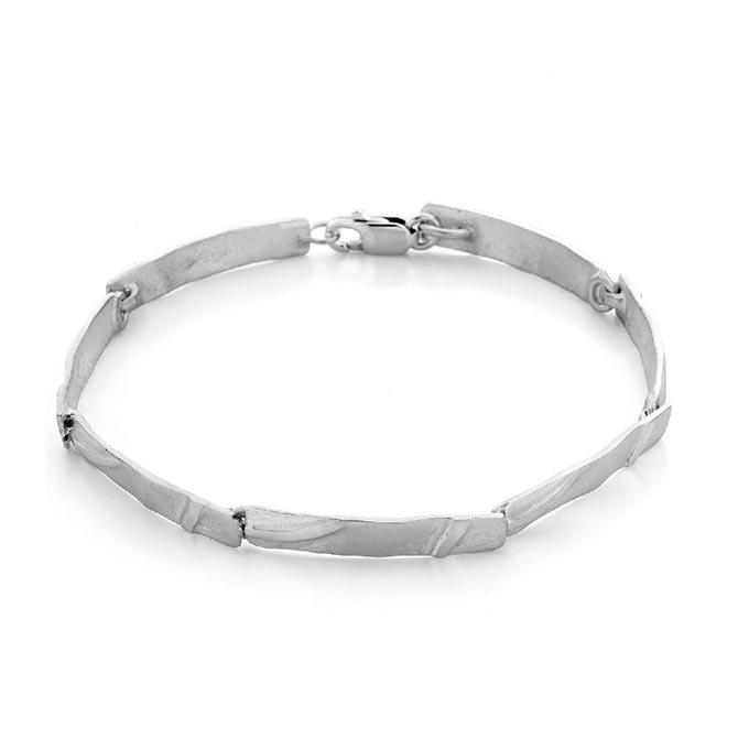 N° 73 White Gold Link Bracelet