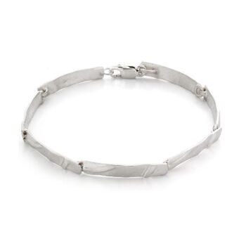 N° 73 Silver organic bracelet