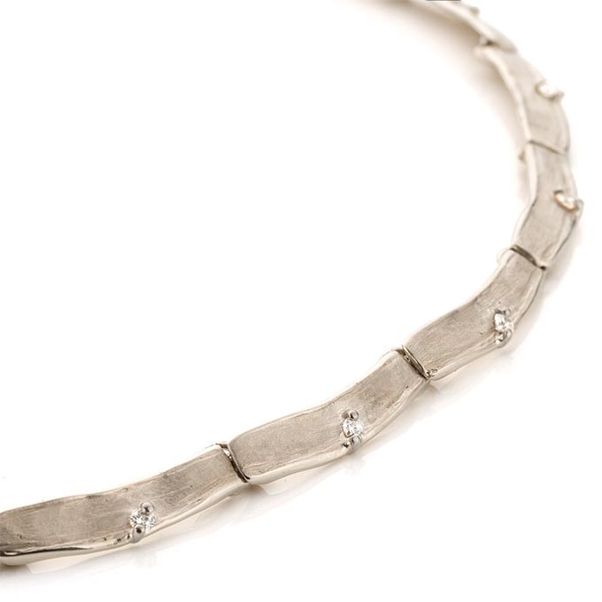 N ° 212 set witgouden halsketting