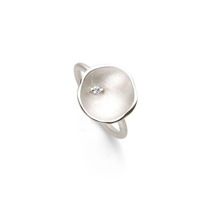 N ° 63 set zilveren ring