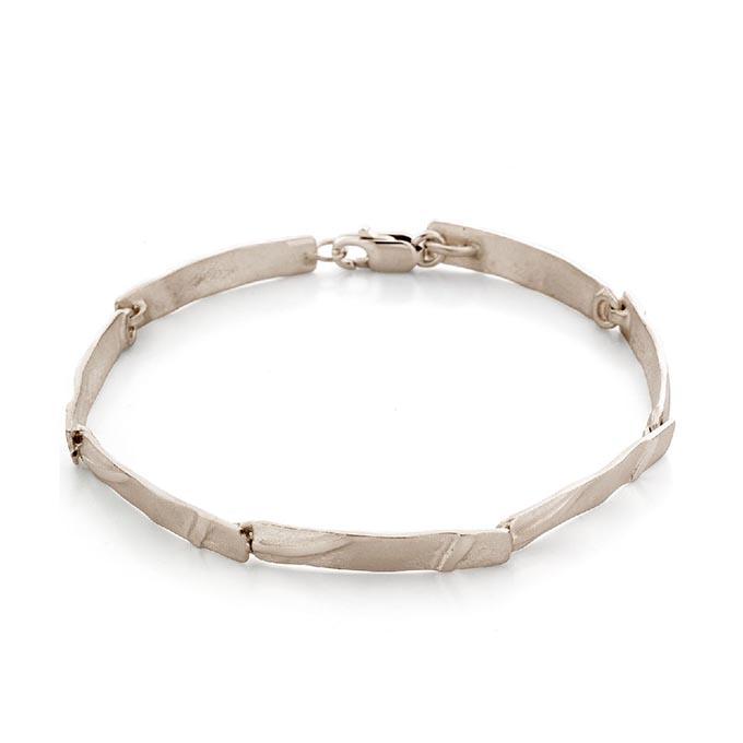 N° 73 Champage White Gold Link Bracelet