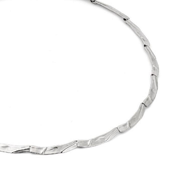 N ° 73 Zilveren halsketting