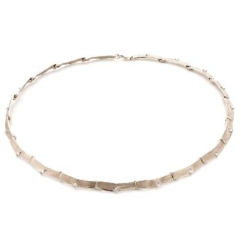 N° 212 set white gold necklace