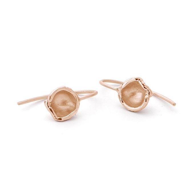 N ° 68D gouden oorbellen