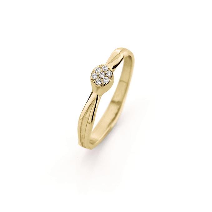 N ° 207_7 gouden verlovingsring