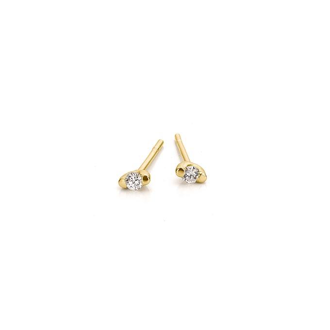 N ° 257A set gouden oorbellen
