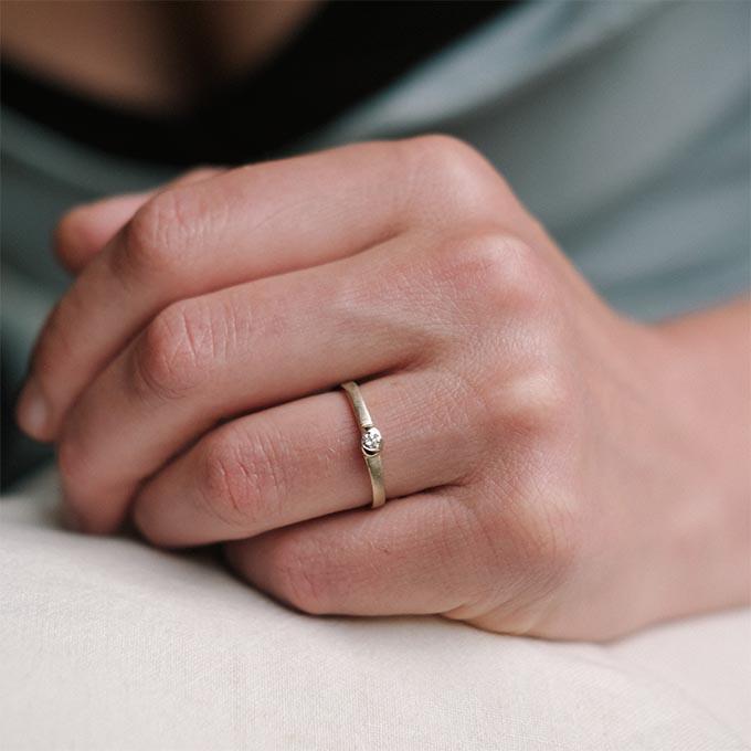 N° 260 gold enagement ring