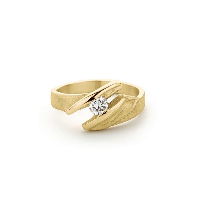 N ° 262 gouden verlovingsring