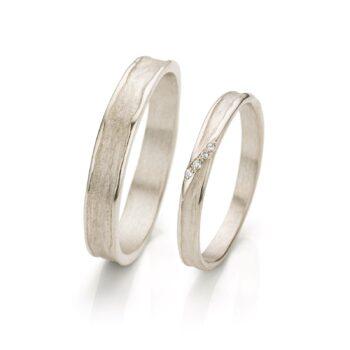 White gold wedding rings N° 052_4