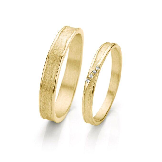 Yellow gold wedding rings N° 052_4