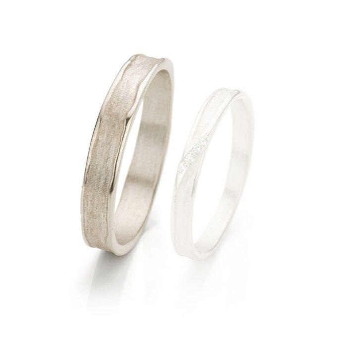 White gold wedding ring for men N° 052_4