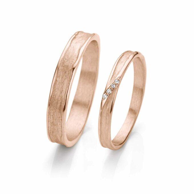 Rosé gold wedding rings N° 052_4