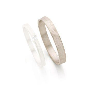 White gold wedding rings for men N° 053_1