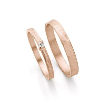 Rosé gold wedding rings N° 053_1