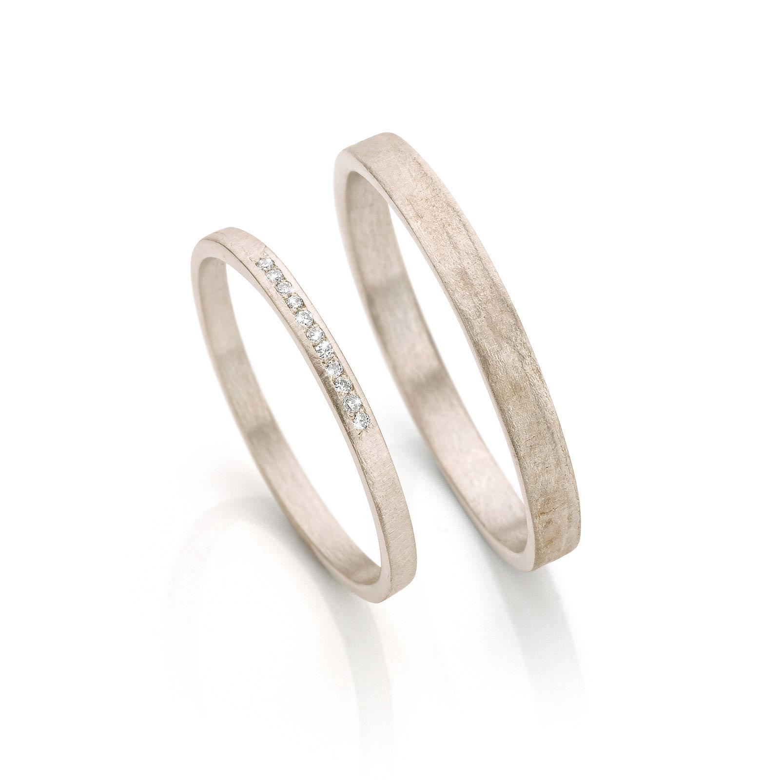 White gold wedding rings N° 054_6