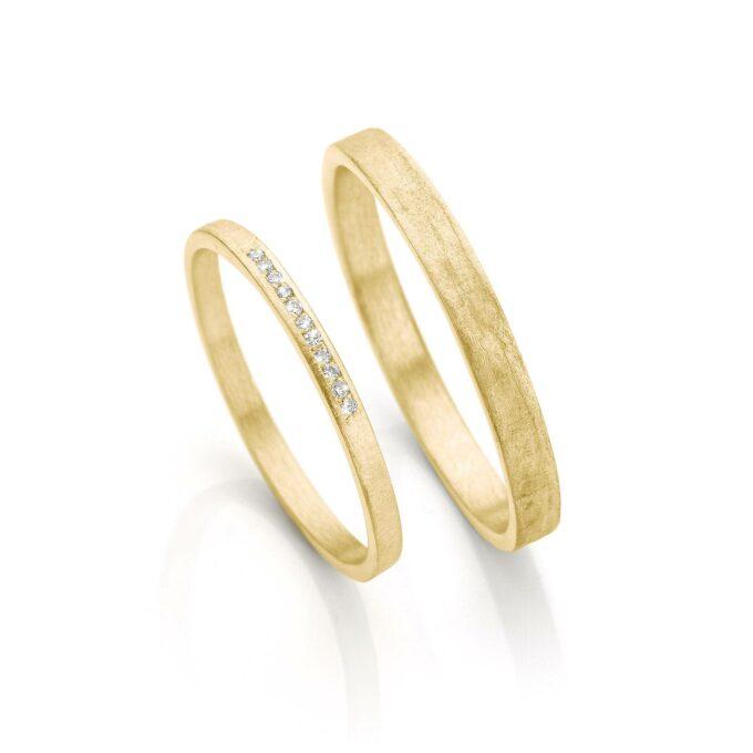 Geel gouden trouwringen N° 054_11