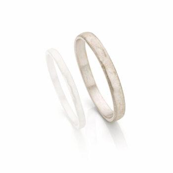 White gold wedding ring for men N° 055_0