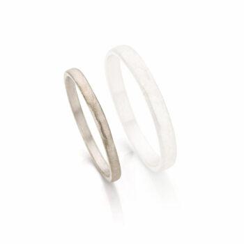 White gold wedding ring for women