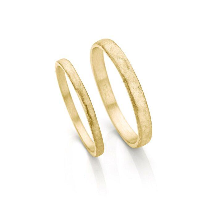 Yellow gold wedding rings N° 055_0