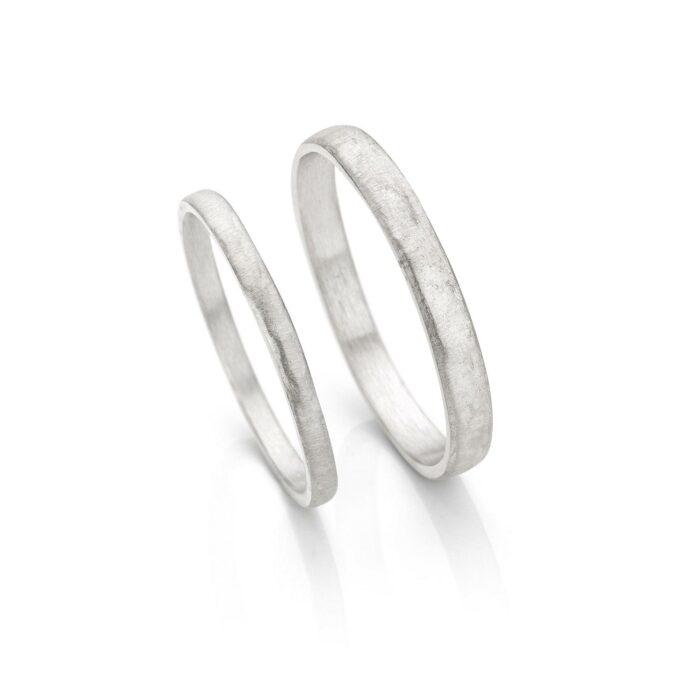 Rhodium gold wedding rings N° 055_0