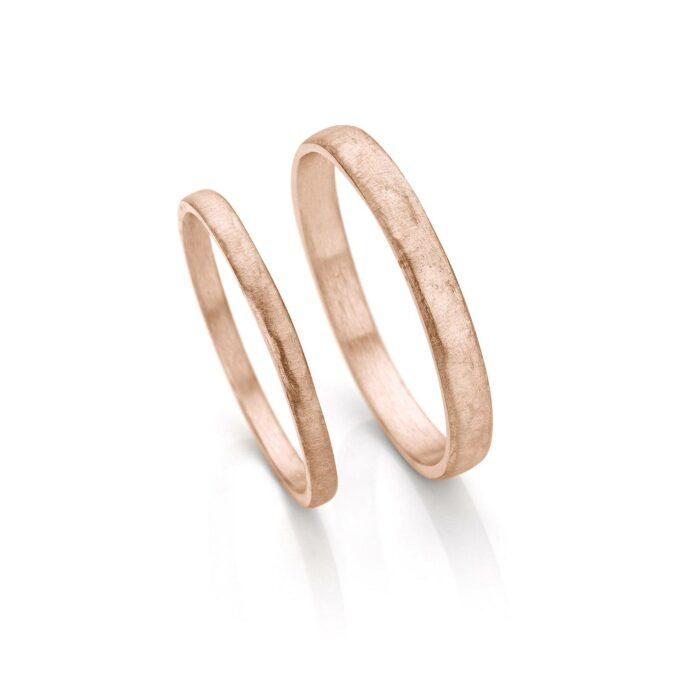 Rosé gold wedding rings N° 055_0