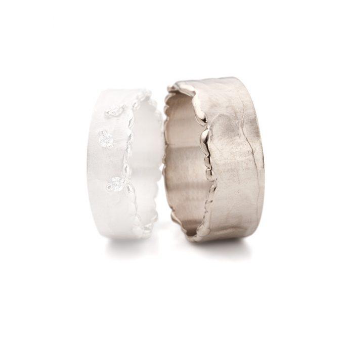 White gold wedding rings N° 10 man's ring