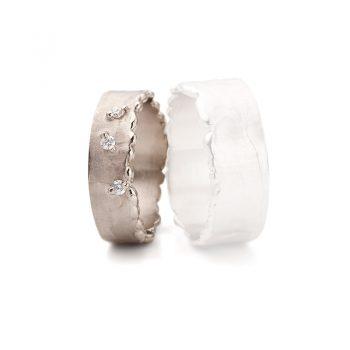 White gold wedding rings N° 10 lady's ring