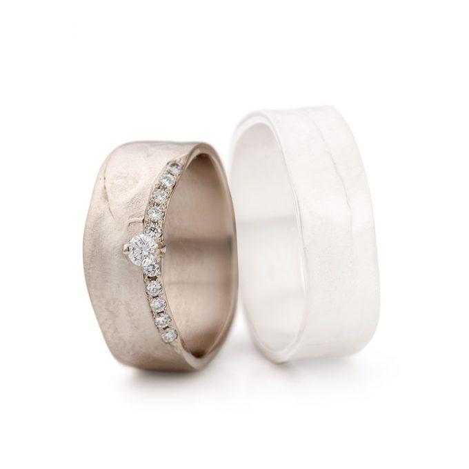 White gold wedding rings N° 11_1_1 lady's ring