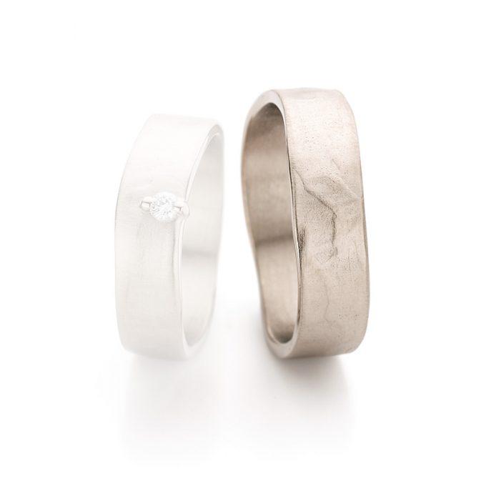 White gold wedding rings N° 12_2_1 man's ring