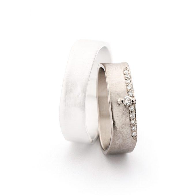 White gold wedding rings N° 11_2_11 lady's ring