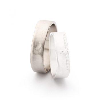 White gold wedding rings N° 11_2_11 man's ring