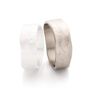 White gold wedding rings N° 11_1_1 man's ring