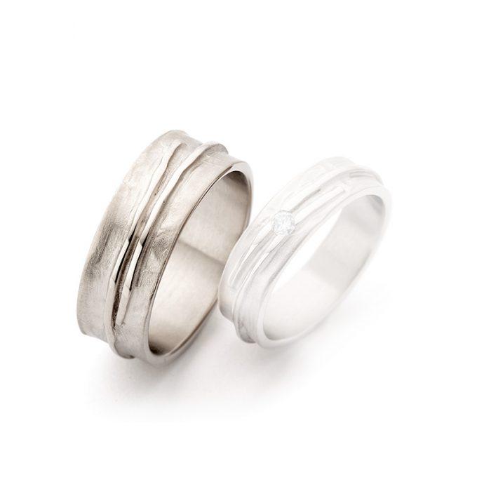 White gold wedding rings N° 14_1 man's ring