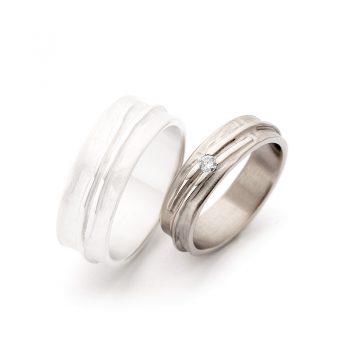 White gold wedding rings N° 14_1 lady's ring