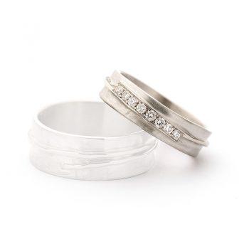 White gold wedding rings N° 14_8 lady's ring