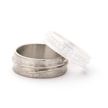 White gold wedding rings N° 14_8 man's ring