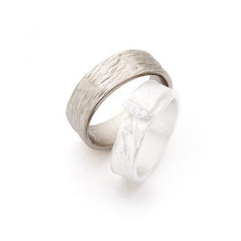 White gold wedding rings N° 16_4 man's ring