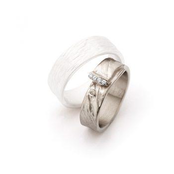 White gold wedding rings N° 16_4 lady's ring