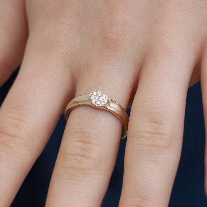 Witgouden verlovingsring met diamanten N° 160_5 model foto