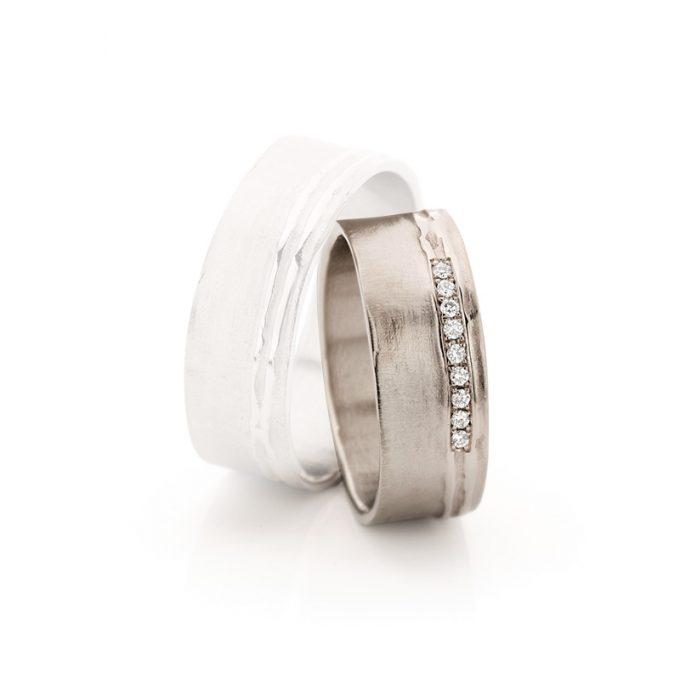 White gold wedding rings N° 18_9 lady's ring