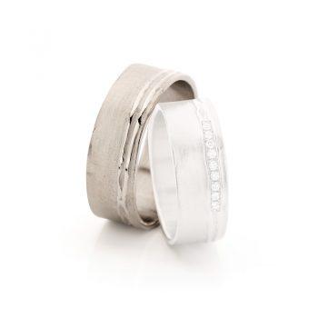 White gold wedding rings N° 18_9 man's ring