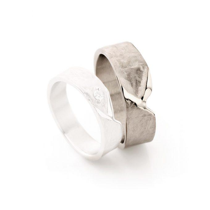 White gold wedding rings N° 20_1 man's ring