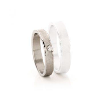 White gold wedding rings N° 21 lady's ring