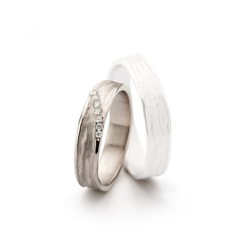 White gold wedding ring N° 22 lady's ring