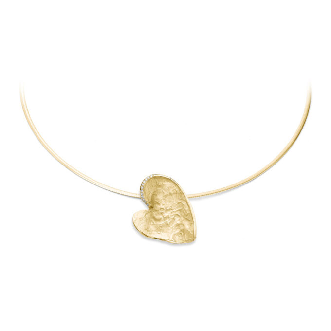 N226 yellow gold memorial necklace