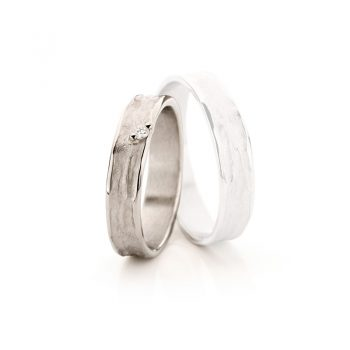 White gold wedding rings N° 22_1 lady's ring