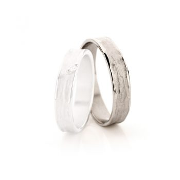 White gold wedding rings N° 22_1 man's ring