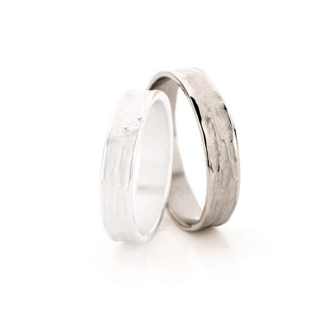 White gold wedding rings N° 22_1 man's ring