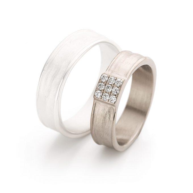 White gold wedding ring N° 25 lady's ring