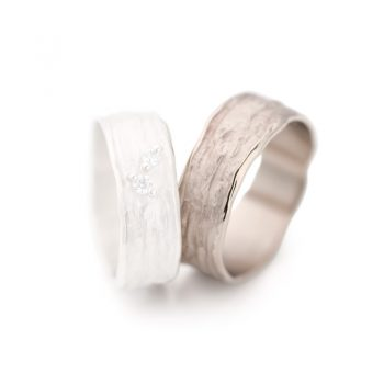 White gold wedding ring N° 28 man's ring